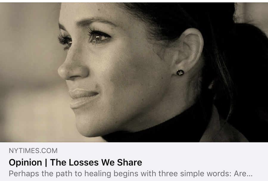 Meghan Markle Shares Her Miscarriage Experience