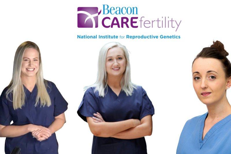 Collage 4 nurses smiling